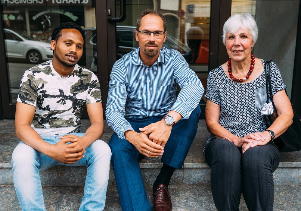 Khaled, Matthias Gericke und Christine Meyeringh. Foto: Sebastian Petersen/philigran studio