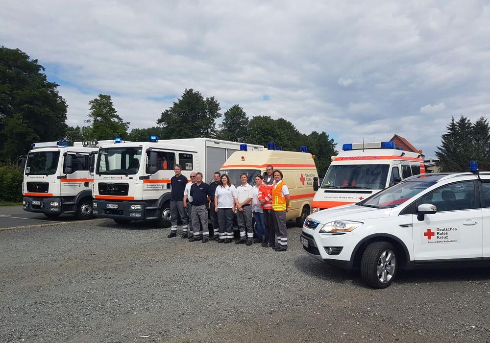 Zehn Helfer des DRK Einsatzzuges Wolfenbüttel nutzten das Wochenende für eine Orientierungsübung.  Fotos: DRK