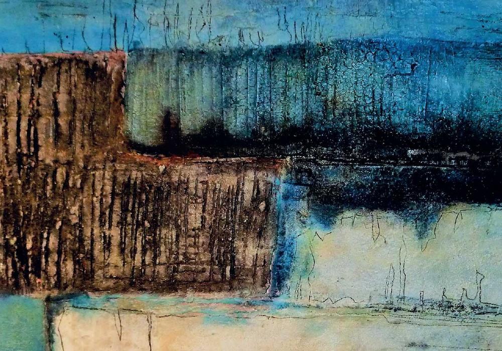 Bewegte Flächen: So lautet der Titel der Ausstellung von Marlies Mefs: Eigentum der Künstlerin. Foto: Markise Mefs