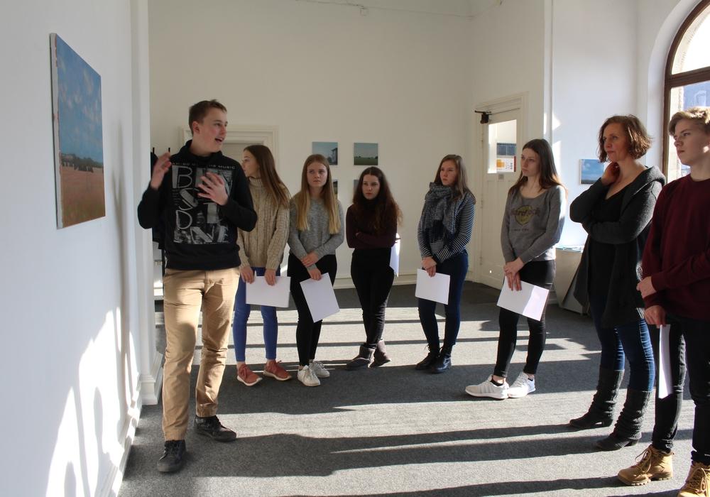 Schüler des Theodor-Heuss-Gymnasiums besuchten Kunstverein. Foto: Privat