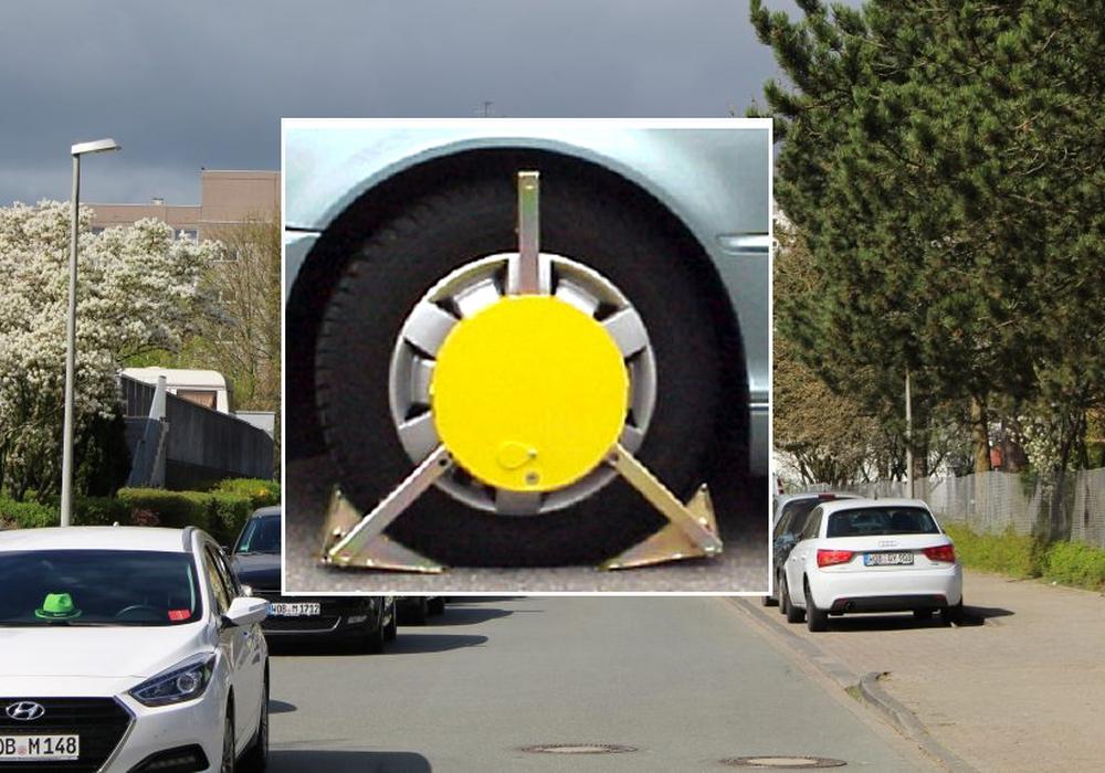 Autobesitzer werden mit Aufklebern vor dem Anfahren gewarnt. Fotos: Stadt Wolfsburg / Bernd Dukiewitz