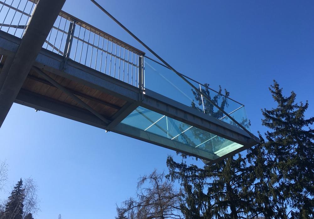"""""""Skywalk"""" nennt sich die neue Attraktion in den Bad Harzburger Baumwipfeln, die am heutigen Donnerstag eröffnet wurde. Foto: Baumwipfelpfad Harz/Harz Venture GmbH"""