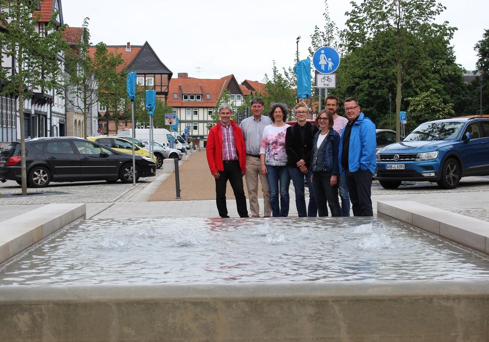 Stefan Brix, Reiner Strobach, Ghalia El Boustami (Geschäftsführerin), Ulrike Krause, Elke Schmidt, Sascha Poser, Jürgen Selke-Witzel (v. li.). Foto: Bündnis 90/Die Grünen