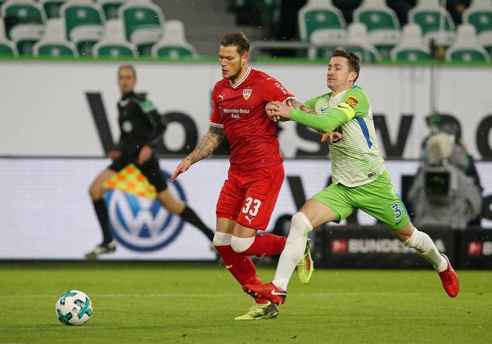 "Anfang Februar traf ""Joker"" Ginczek noch gegen Wolfsburg. Foto: imago"