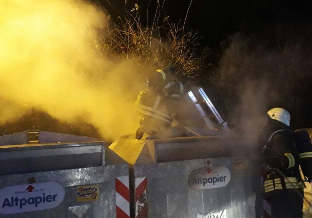 Fast wöchentlich kommt es zu neuen Containerbränden in der Lessingstadt. Symbolfoto: Feuerwehr Wolfenbüttel