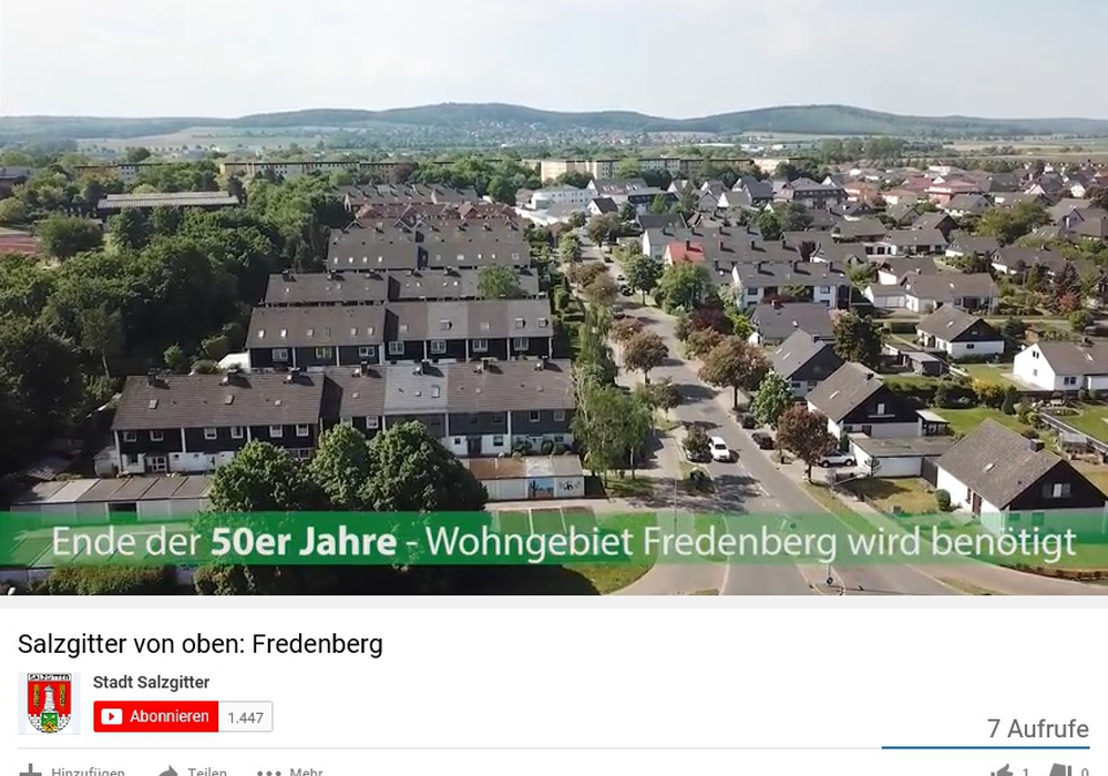 Salzgitter von oben - heute: Fredenberg. Screenshot: Stadt Salzgitter