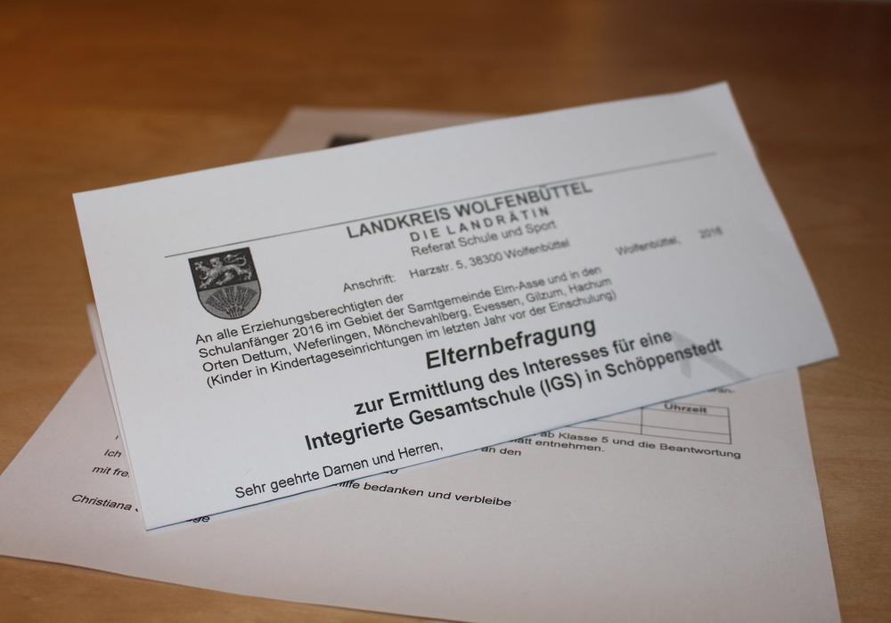 Zur IGS Schöppenstedt gab es auch eine Elternbefragung. Foto: Archiv