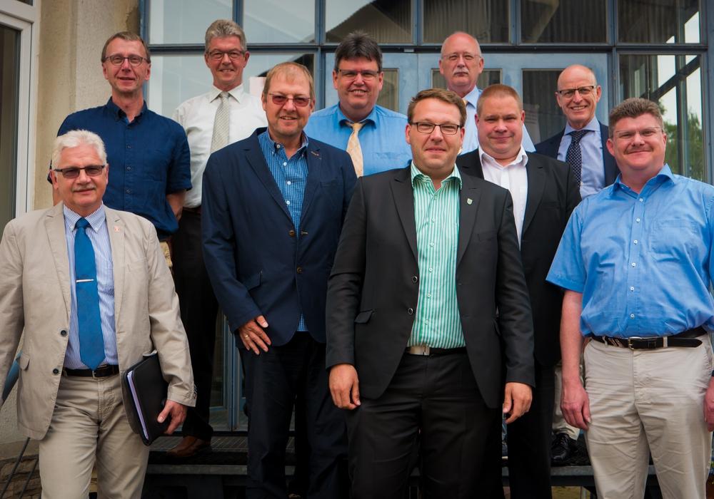 Die leitenden Verwaltungsbeamten der Gemeinden und des Landkreises. Foto: Landkreis Helmstedt