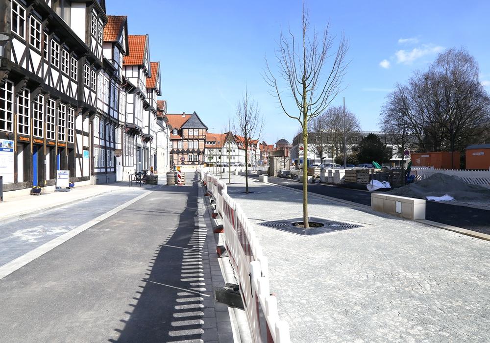 Ab Montag kann in der Reichsstraße geparkt werden. Foto: Stadt Wolfenbüttel/RAE
