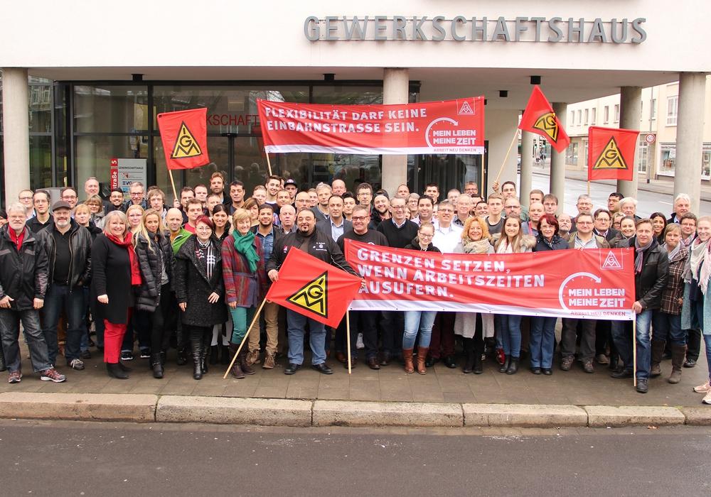 Vertrauensleutekonferenz der IG Metall Braunschweig. Bildnachweis: Peter Frank, d&d.
