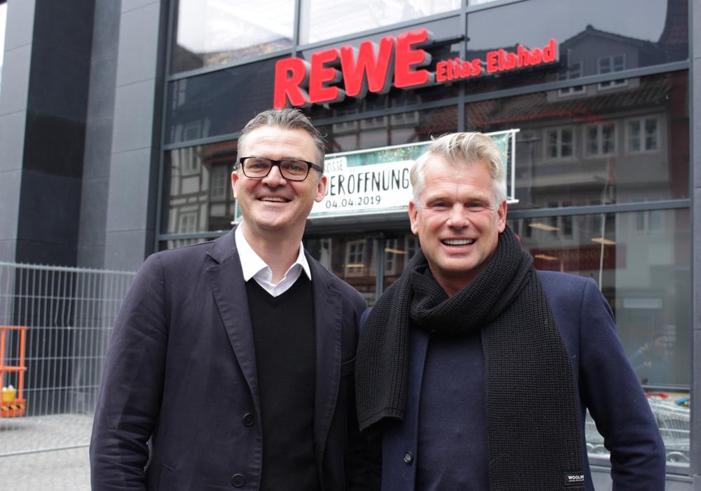 Die neuen Eigentümer freuen sich auf die Eröffnung. Thorsten Bischoff und Carsten Fischer von DC Values. Foto: Werner Heise