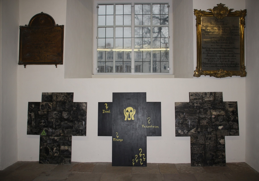 In der Trinitatiskirche wurde eine Ausstellung zu Fukushima eröffnet. Foto: Koch