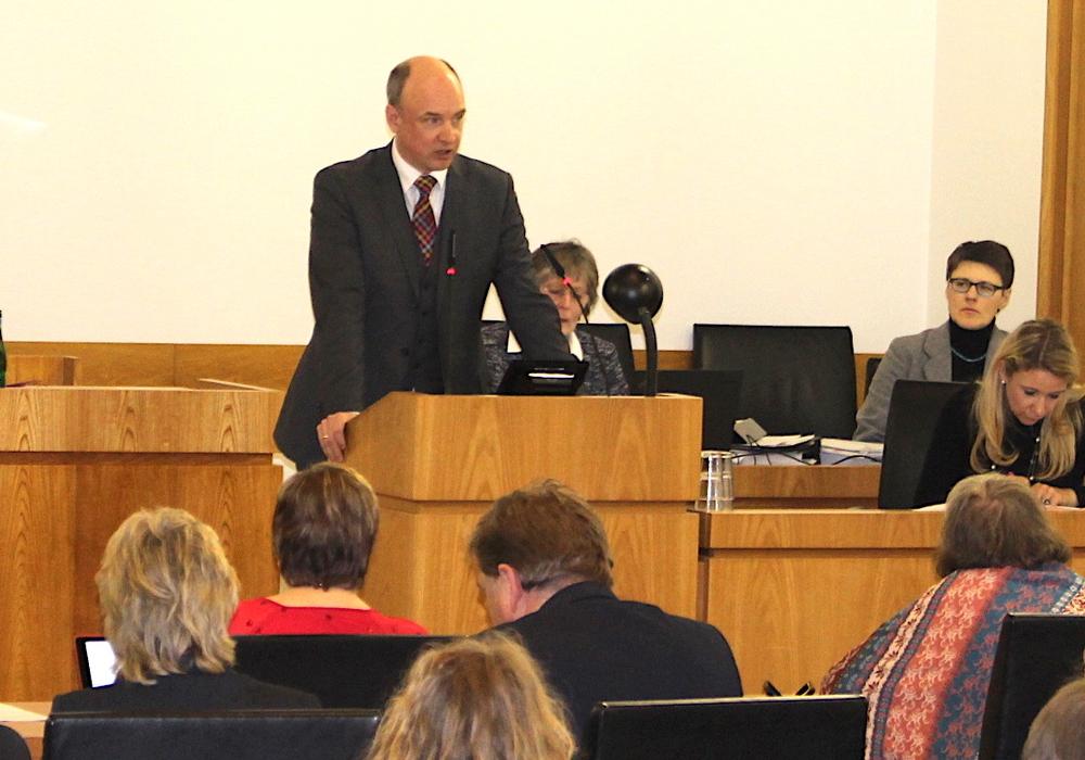 Christian Geiger hielt die Einführungsrede des aktuellen Haushalts. Foto: Alexander Dontscheff