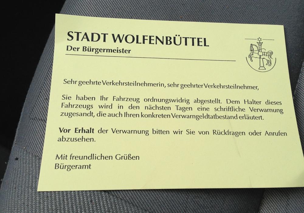 Die Stadt Wolfenbüttel verteilte im ersten Halbjahr mehr als 9.000 Knöllchen. Symbolfoto: Anke Donner