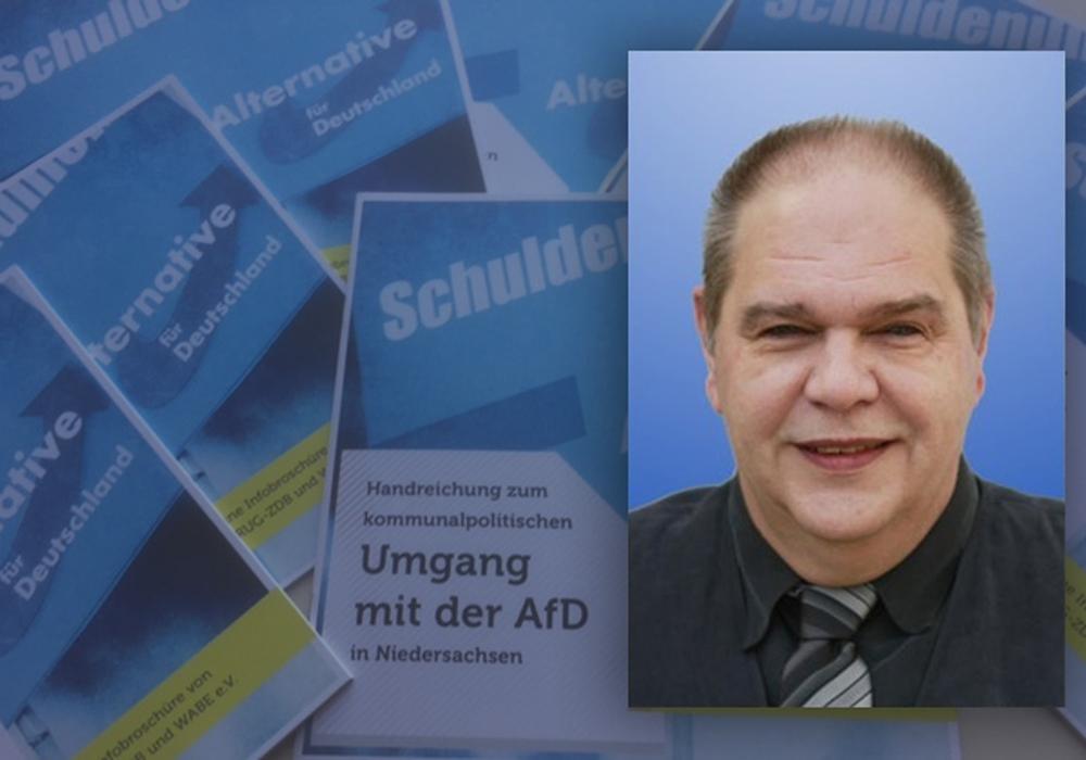 Michael Gröger (AfD) über Broschüre für den Umgang mit der AfD. Foto: ARUG/ZDB und Wabe e.v.; AfD Kreisverband Salzgitter