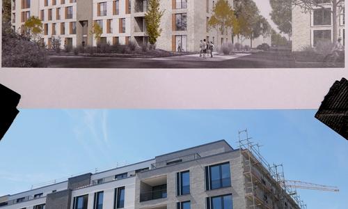 Plan und Umsetzung. Erste Wohnungen sind bereits an neue Eigentümer vergeben.