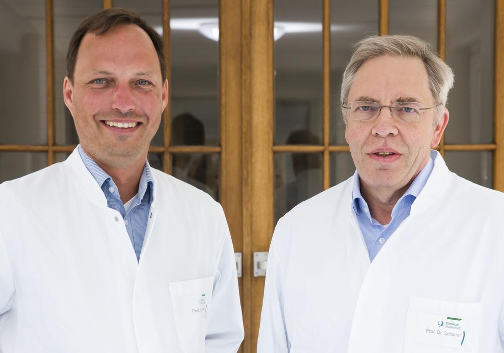 Prof. Dr. Philipp Wiggermann (links) übernimmt die Nachfolge von Prof. Dr. Wolfgang Schörner. Foto: Klinikum Braunschweig/Jörg Scheibe