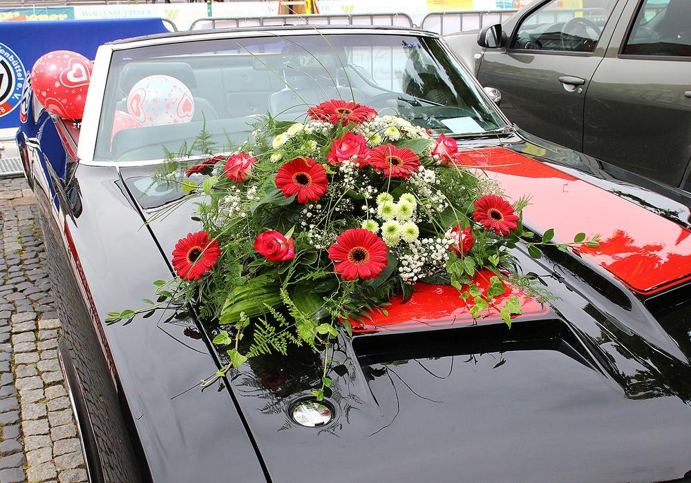 Hochzeitsauto. Foto: Thorsten Raedlein