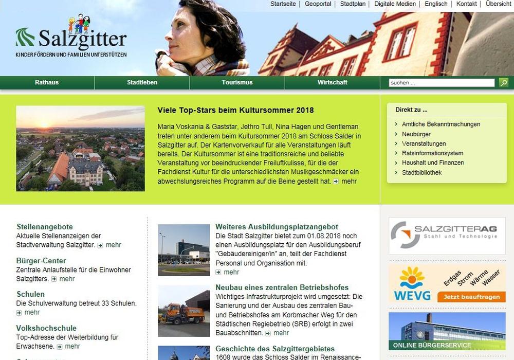 www.salzgitter.de -  Screenshots: Stadt Salzgitter