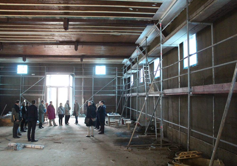 Die Umgestaltung der Jahnturnhalle zum Bürgermuseum ist in vollem Gange. Fotos: Jan Borner