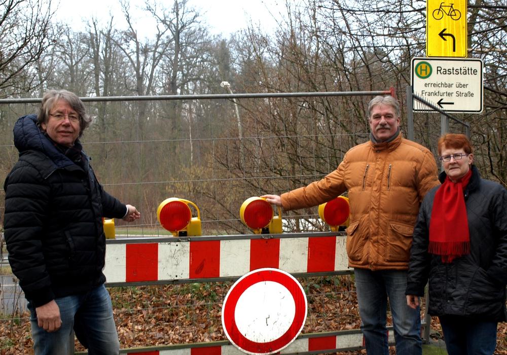 Die SPD-Vertreter wollen einen raschen Baubeginn. Fotos: SPD