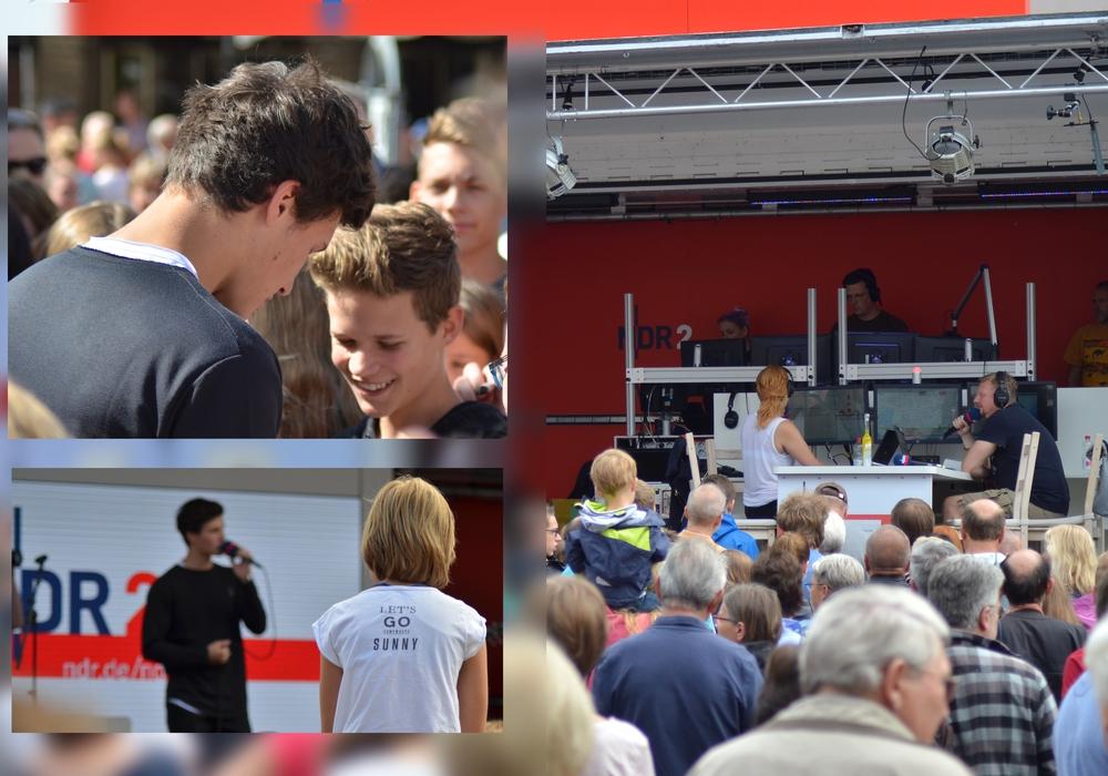 Wincent Weiss stimmt Gifhorn auf das Festival ein. Fotos: Sandra Zecchino