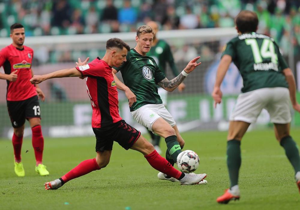 Erste Niederlage für Wout Weghorst und den VfL Wolfsburg. Fotos: Agentur Hübner