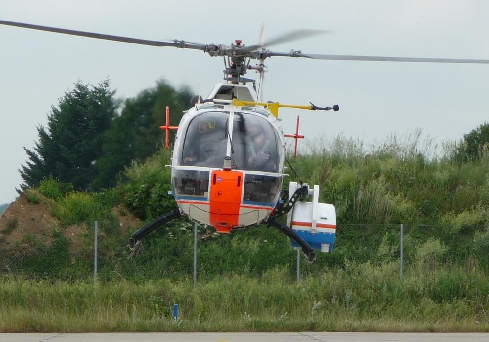 Ein Forschungshubschrauber des Deutschen Zentrums für Luft- und Raumfahrt wird in den nächsten Tagen über dem Raum Braunschweig kreisen. Foto: DLR