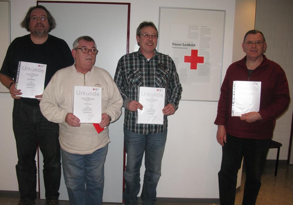 Stefan Bolde-Müller, Karl-Hans Walter, Dirk Noll und Wilfried Wende wurden für ihre Engagement ausgezeichnet. Foto: Heinrich Balke