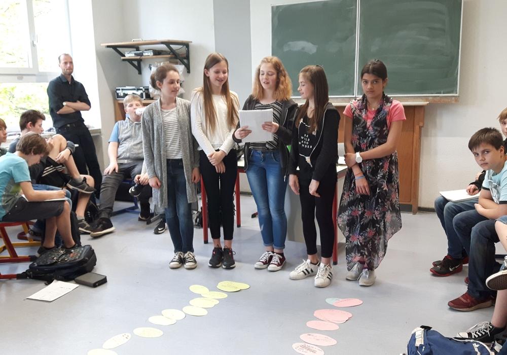 """Die Schüler der sechsten Klassen des GaBö beschäftigten sich mit dem Thema """"Sucht"""". Foto: Schule"""