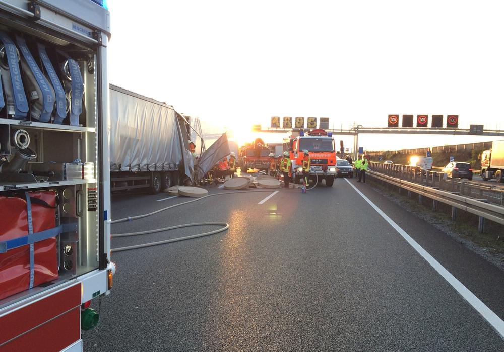 Unfall auf der A2, Foto: 24aktuell(BM)