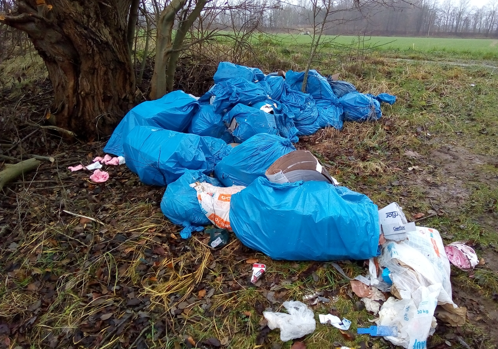 Der abgeladene Müll in der Landschaft. Fotos: Privat