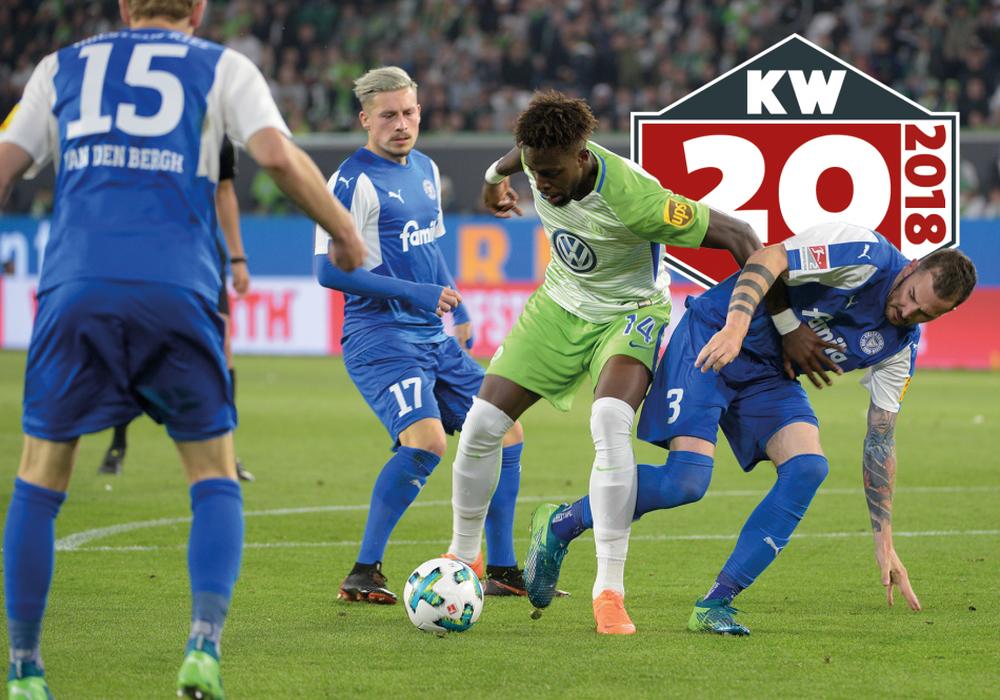 Relegation Spiel 2 für Divock Origi und den VfL Wolfsburg gegen Holstein Kiel. Foto: imagemoove