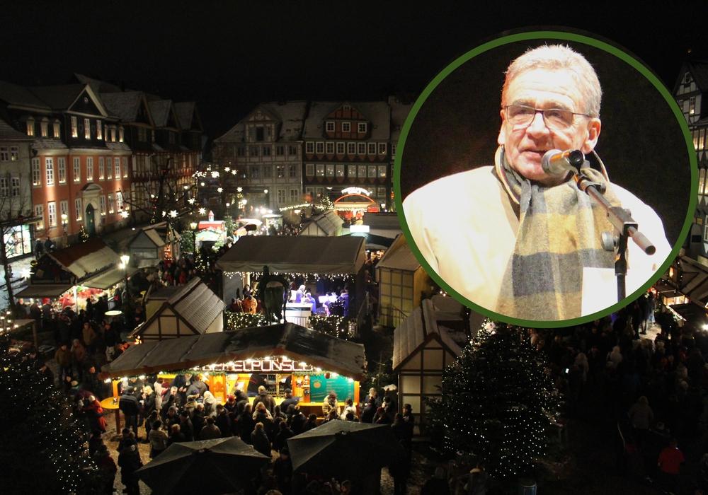 Am heutigen Dienstag erklärte Bürgermeister Thomas Pink den Weihnachtsmarkt 2018 für eröffnet. Fotos: Nick Wenkel
