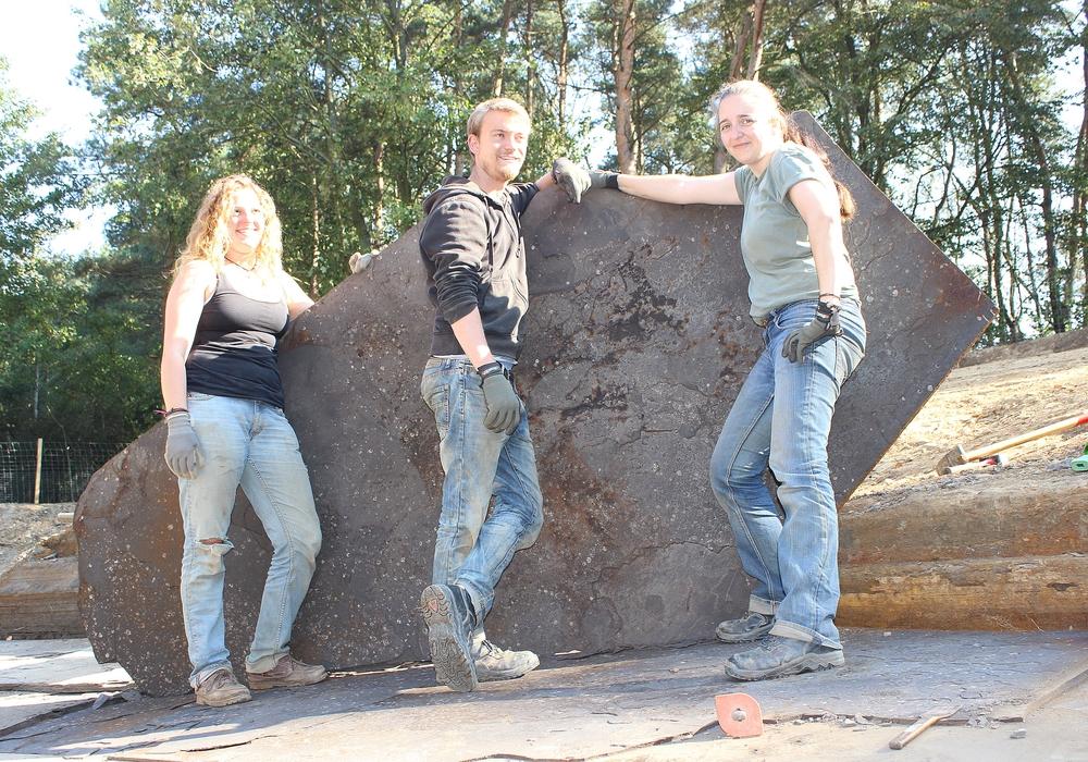 Das Grabungsteam Geopunkt Schandelah freut sich auf den Termin. Foto: (c) SNHM Braunschweig