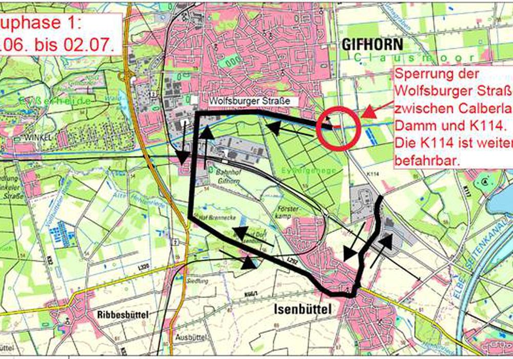 Karte: Landkreis Gifhorn