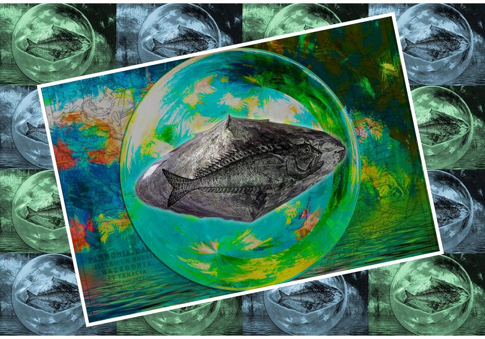 """Sidney Gromnicas """"Das Fossil"""" ist eines von vielen Werken, die im Rahmen der Jahresausstellung der bk/harz vom 16. März bis 20 April im Kreishaus ausgestellt werden. Foto: Sidney Gromnica"""