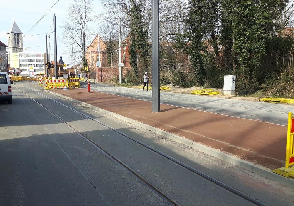Die Haltestelle Marienstraße musste aus Sicherheitsgründen vorverlegt werden. Foto:  Braunschweiger Verkehrs-GmbH