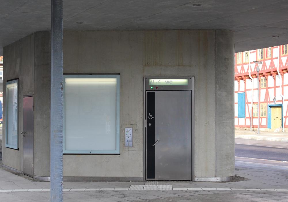 Toilettenhäuschen Kornmarkt. Foto: Max Förster