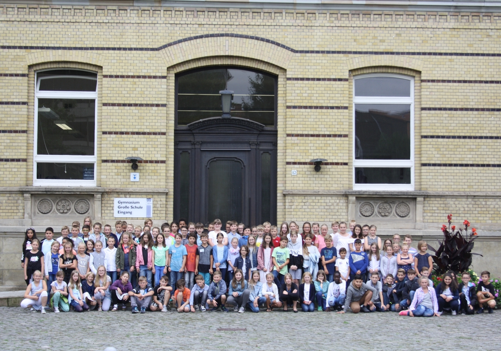 Die Schüler des fünften Jahrgangs der Großen Schule konnten eingeschult werden. Foto: Habenbacher
