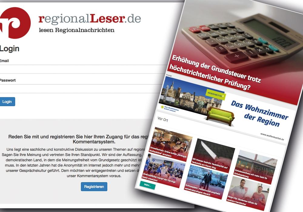Kommentieren Sie unsere Artikel und registrieren Sie sich auf regionalLeser.de.
