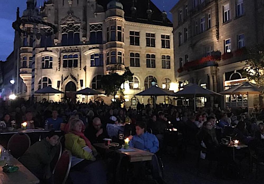 Auch im letzten Jahr lockte das Helmstedter Open-Air-Kino die Menschen in die Stadt. Foto: WARMBEIN kommunikation