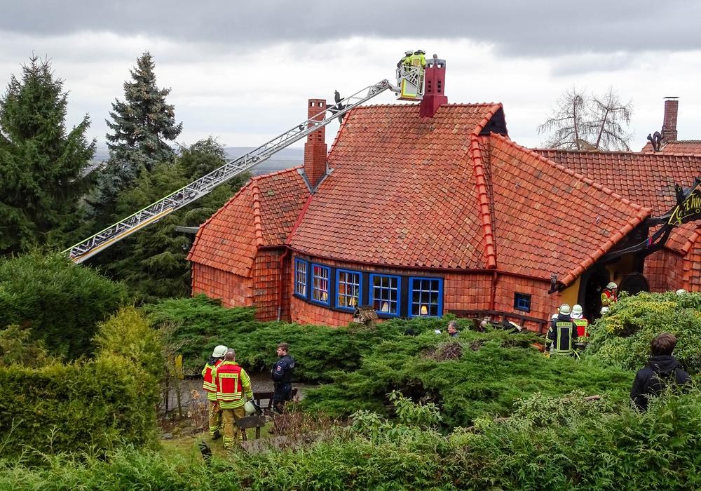 Schornsteinbrand im Cafè Winuwuck. Fotos: Feuerwehr Stadt Bad Harzburg