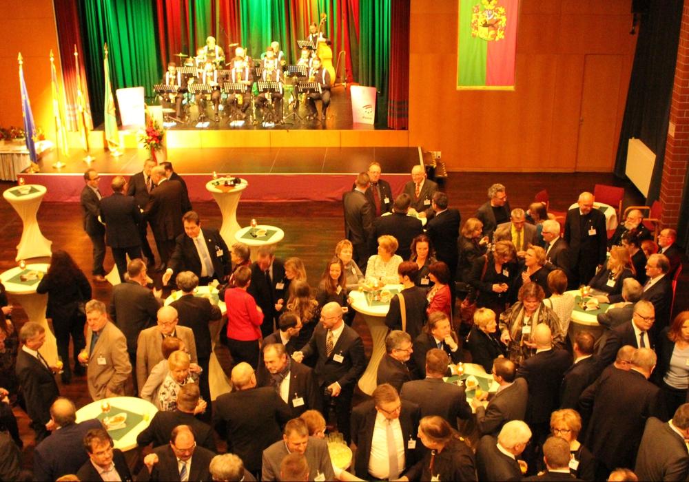 Das Forum war zum Neujahrsempfang gut gefüllt. Fotos: Frederick Becker