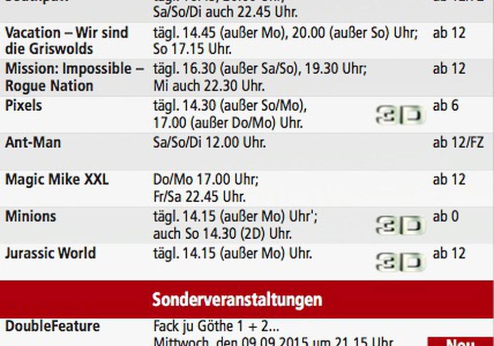 Helmstedt Kinoprogramm
