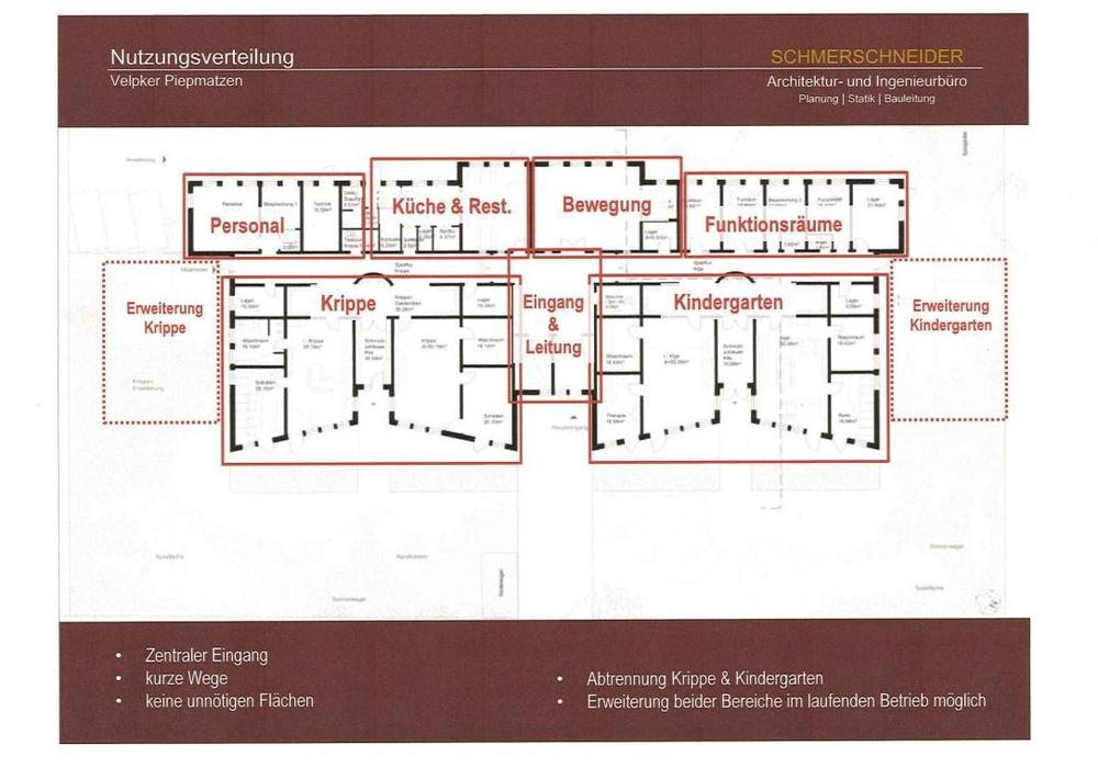 So sieht der von der Verwaltung favorisierte Planungsentwurf aus. Plan: Architekturbüro Schmerschneider