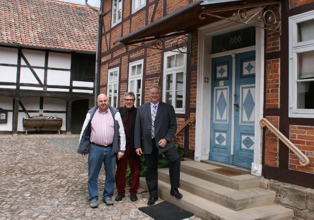 Für die Wolfenbütteler Jürgen Kumlehn, Dietmar Dolle und Frank Oesterhelweg ist der Ort dennoch ein Kleinod. Foto: privat