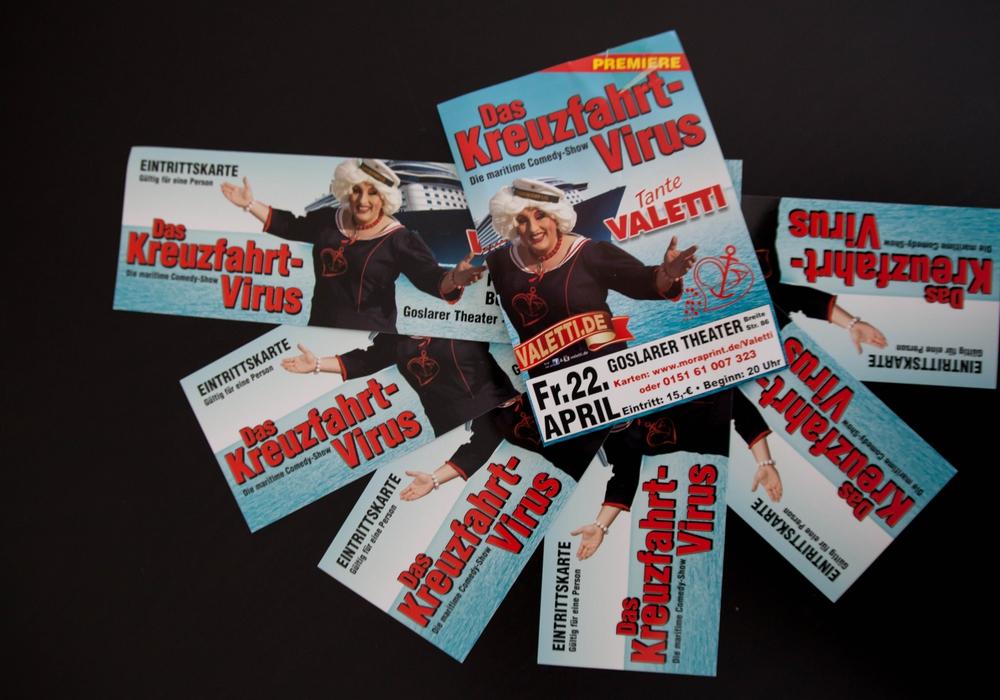 Mit Begleitung zu Tante Valetti? RegionalHeute.de verlost drei Mal zwei Karten für die Deutschland-Premiere ihres neuen Solo-Programms. Schreiben Sie an Goslar@regionalHeute.de und gewinnen sie die Karten im Wert von je 15 Euro.