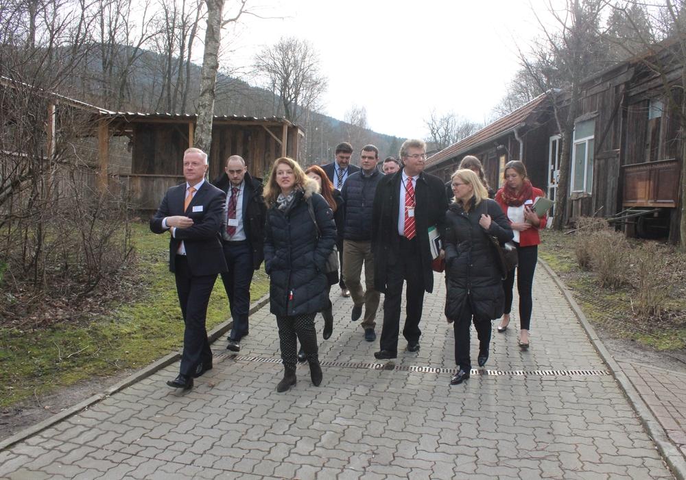 Der SPD-Landtags-Vizepräsident Klaus-Peter Bachmann besuchte am Freitag  das Integrationszentrum in Goslar. Fotos: Anke Donner