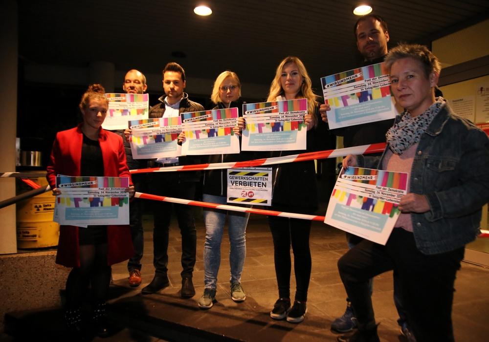 Die Gewerkschaftsmitglieder wollen mit ihrem Fest der Demokratie am 24. November ein Zeichen gegen die NPD setzen. Foto: Rudolf Karliczek